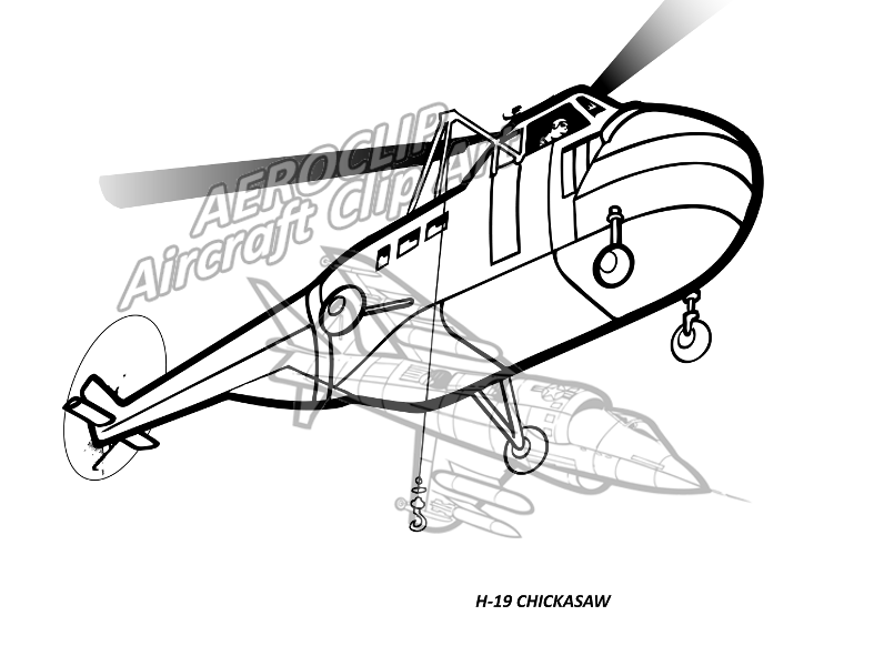 aeroclip rotary wing Bell UH -1 Helicopter h 19 chickasaw helicopter