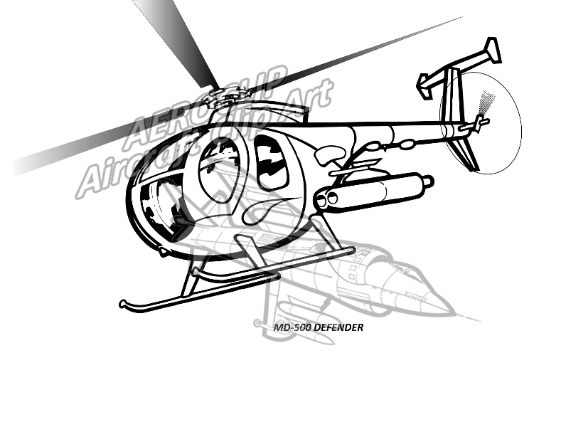aeroclip rotary wing UH- 60 Diagram md 500 defender helicopter