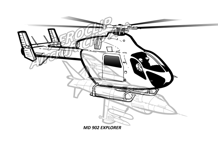 aeroclip rotary wing Bell AH -1Z Cobra md 902 explorer helicopter