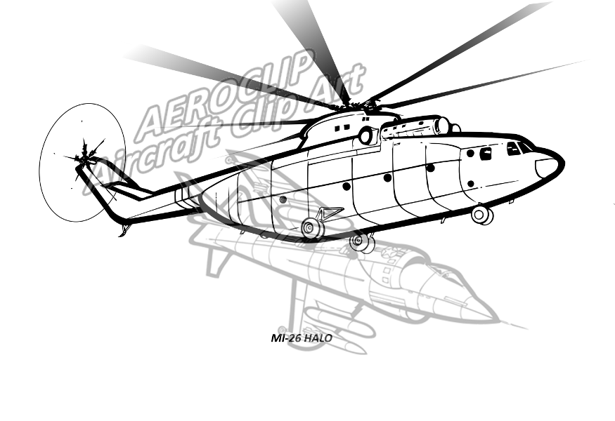 aeroclip rotary wing AH-1Z Attack Helicopter mi 26 halo helicopter